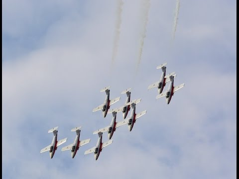 RCAF Snowbirds Demo in Wetaskawin, Alberta 2016