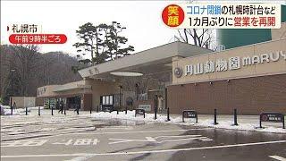 円山動物園が1カ月ぶり再開 時計台やテレビ塔も(20/04/01)