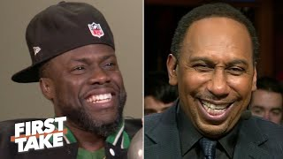 Kevin Hart clowns Stephen A.'s hair, insults Max Kellerman and says the Cowboys 'suck' | First Take