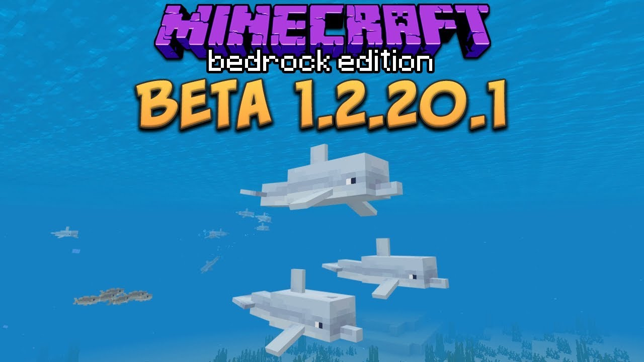 Minecraft Beta 1.2.20.1 First Look At Dolphins!