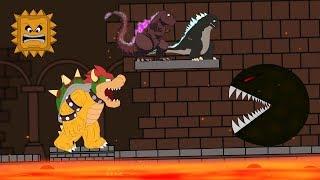 Godzilla vs Shin Godzilla: PAC MAN Attack Mario Bowser Funny | Godzilla & Mario Movie Cartoon