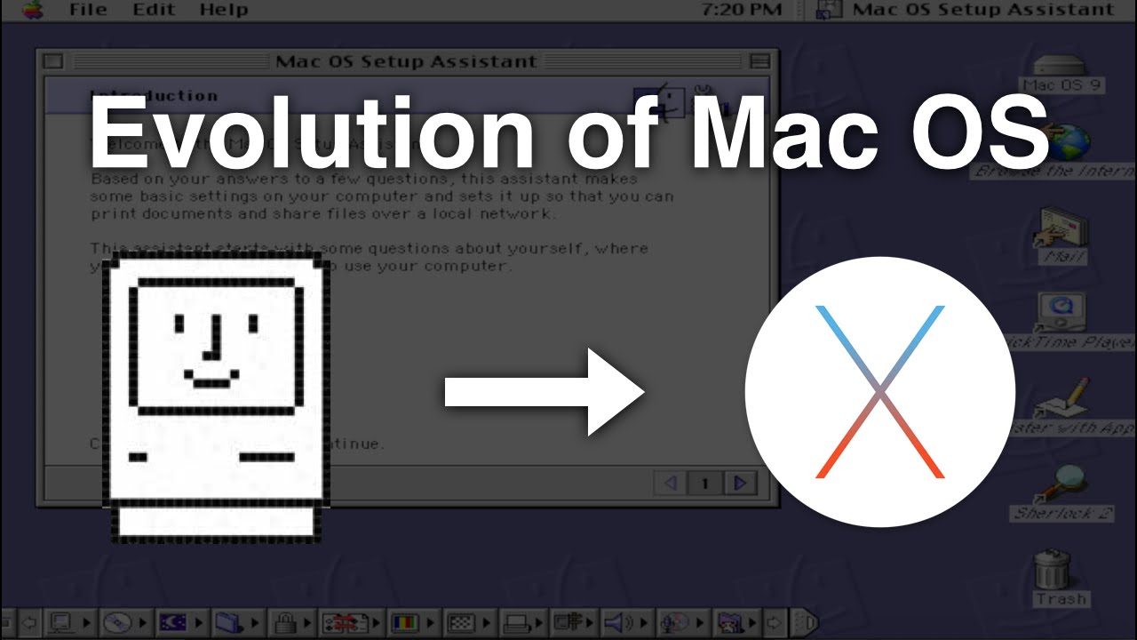 Evolution of mac os mac os 1 0 mac os x youtube for Innenarchitektur mac os x