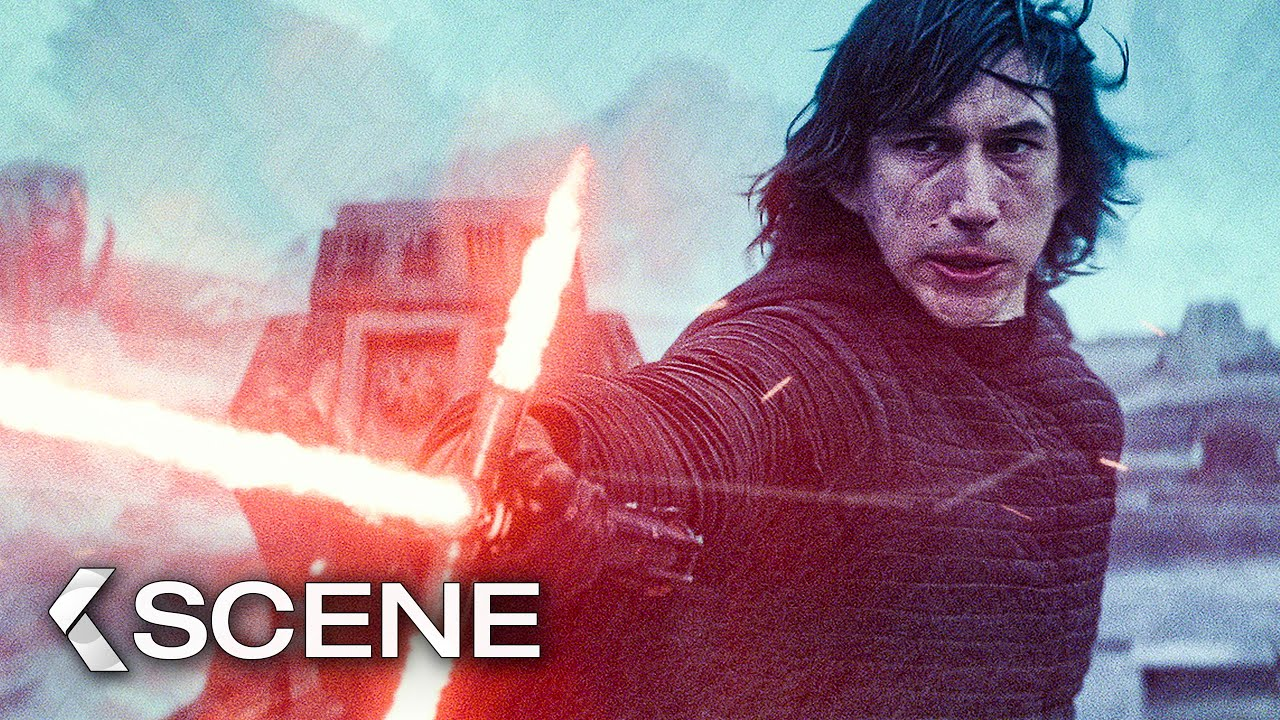 Kylo Ren Vs Rey Fight Scene Star Wars 9 The Rise Of Skywalker 2019 Youtube