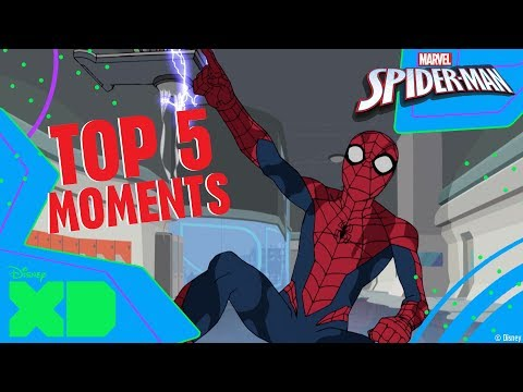 Marvel's Spider-Man | Top 5 Awkward Moments | Official Disney XD Africa