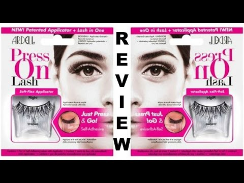 Ardell PRESS ON Lashes?!!! First Impression | Review | Demo thumbnail