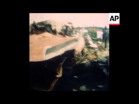 Synd 10 9 76 Wreckage Of Mid Air Crash Killing 176 People Youtube