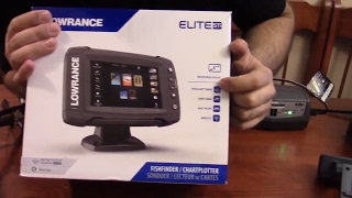 Lowrance Elite 5ti Open Box, Comments, and Power up