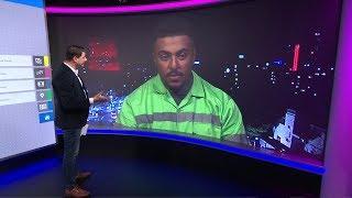 عامل نظافة أردني يصبح من مشاهير وسائل التواصل الاجتماعي