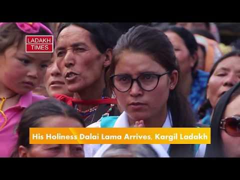 His Holiness Dalai Lama, Arrives Kargil, Thousands Witness the Program, Ladakh Times