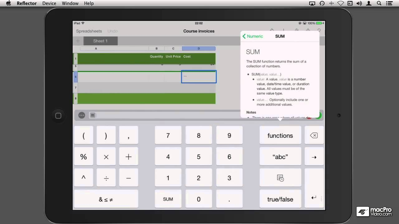 Numbers: For Mac iPhone iPad - 16. Functions on iCloud and iOS ...
