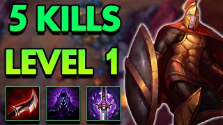 5 KILLS AT LEVEL 1?! FULL LETHALITY PANTHEON TOP! - League of Legends Commentary