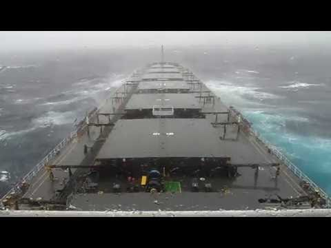MV Bulk carrier sailing in heavy seas 2