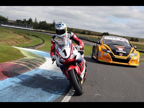 Honda Racing: BTCC champ Gordon Shedden trades machines with John McGuinness.