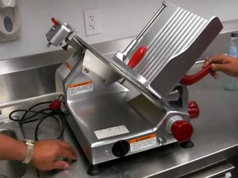 """Berkel 827-A 12"""" Gravity Feed Meat Slicer - Lauro Auctioneers & Restaurant Equipment - South Florida"""