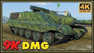 AMX 50 Foch 155 - 9K Dmg - World of Tanks Gameplay - 4K Video