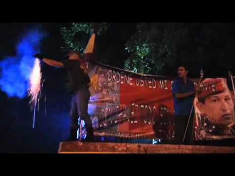 Raw: Chavez Supporters Celebrate Re-election