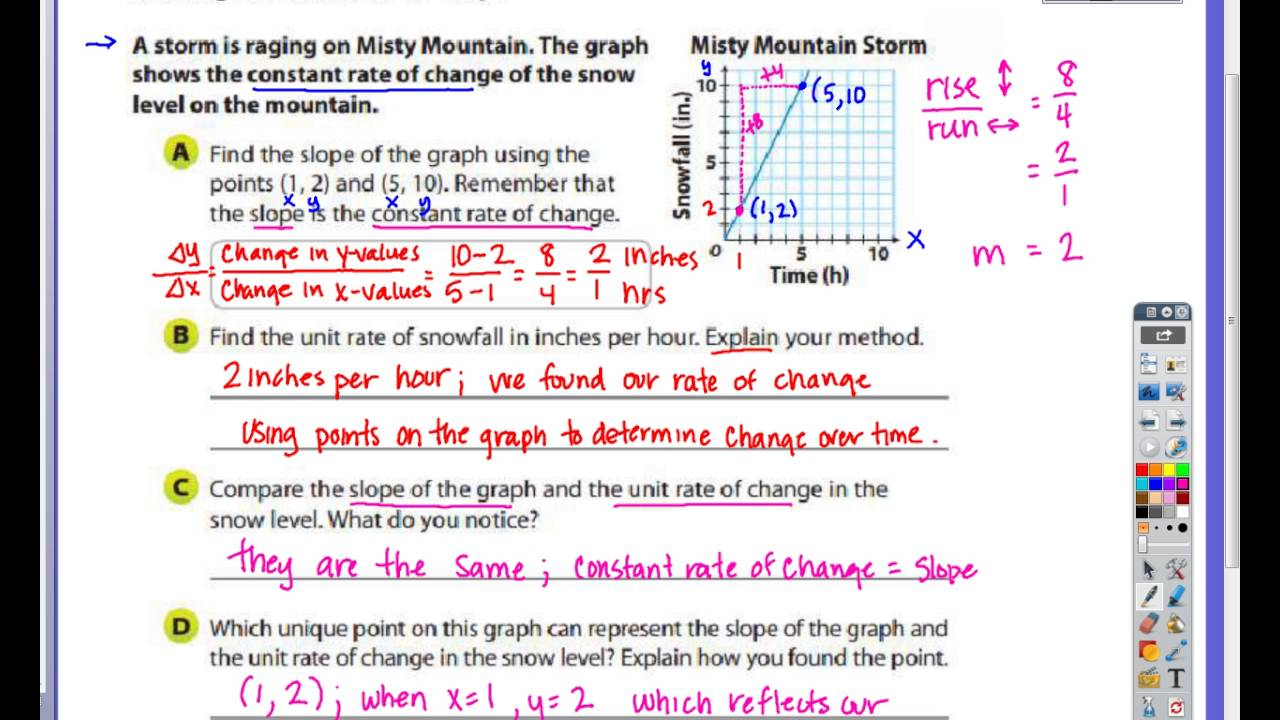 Rate Of Change And Slope Worksheet With Answers 013 - Rate Of Change And Slope Worksheet With Answers