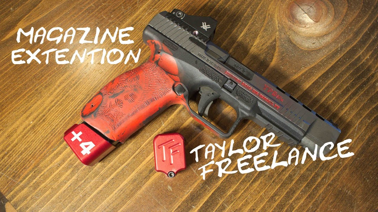 USPSA Legal CANIK TP9 Mag extension! Taylor Freelance +4 Base pad REVIEW