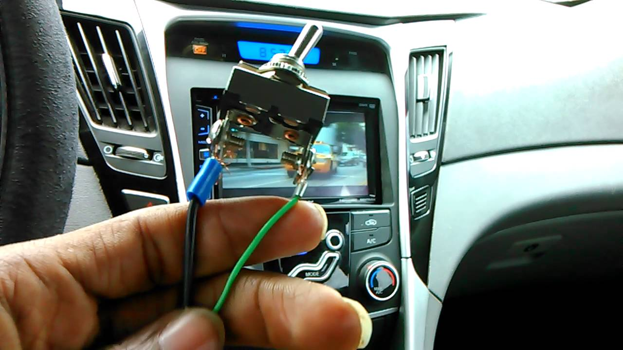 Bypass parking brake to watch movies or video