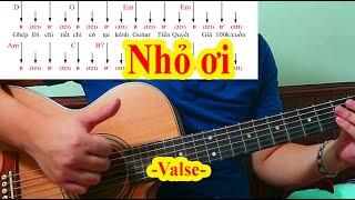 Hướng Dẫn Guitar - NHỎ ƠI - Điệu Valse