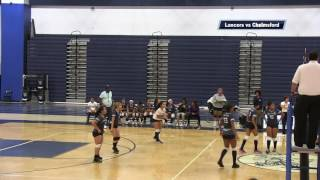 LHS Girls Volleyball vs Chelmsford 2016