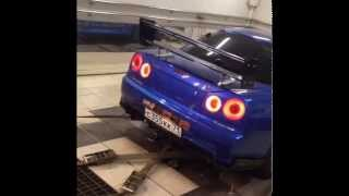 Nissan Skyline GT-R R34 M-specNur Tommy Kaira 754 hp on Moscow dyno!