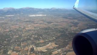 Thomson Boeing 737/800 nice easy landing at Palma Airport October 2014