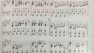 伴奏を耳コピして楽譜に起こしました。 素人の手書き楽譜なので間違って...