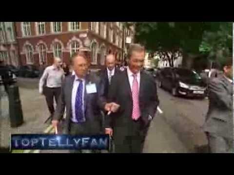 "Godfrey Bloom calls women ""sluts"" & hits Michael Crick (Channel 4 News, 20.8.13)"