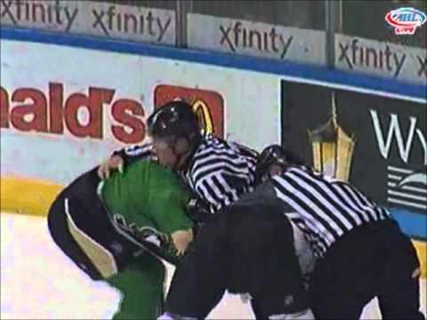 Jesse Boulerice vs Jamie McGinn Mar 20, 2011