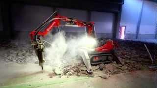 GLES Oy - Husqvarna DXR 140 purkurobotti. Demolition robot.