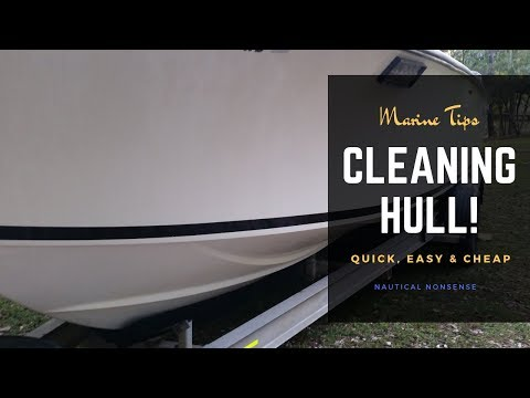 WOW!!! Clean dirty stained boat hull for under $7.00 & it works!