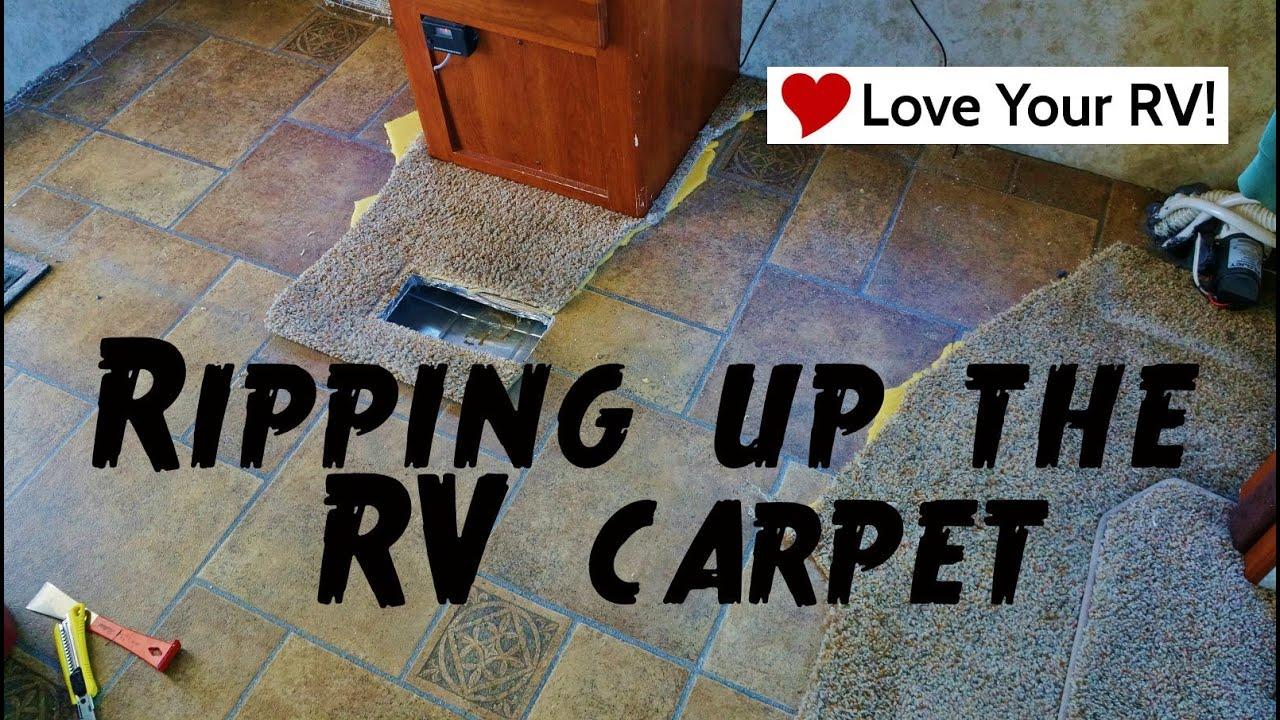 Ripping up the rv carpet youtube baanklon Choice Image