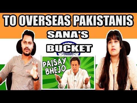 Indian Reaction On TO OVERSEAS PAKISTANIS - Sana's Bucket | Krishna Views