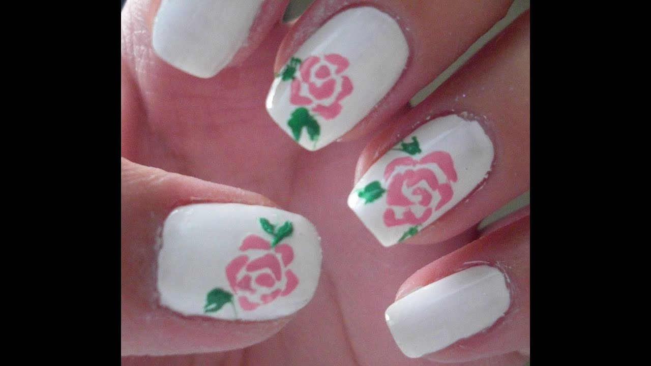 Rose Nail Art Tutorial: Beautiful Rose Nail Art Tutorial