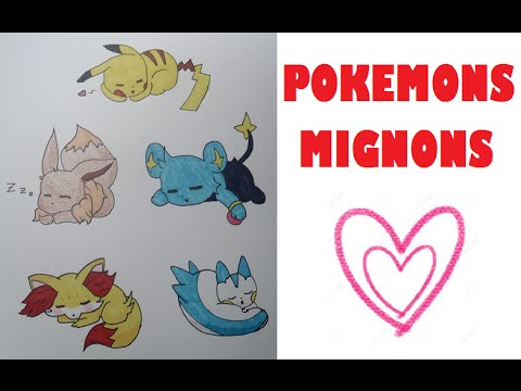 Tutodessiner Des Pokemons Mignons Endormis