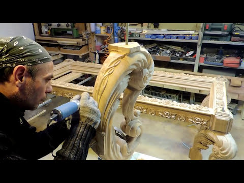 Резные Ножки для обеденного стола  из массива дуба (резьба)woodcarving. мебель на заказ