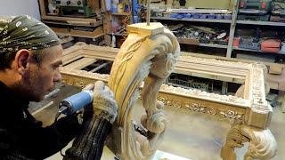 Резные Ножки для обеденного стола  из массива дуба (резьба)woodcarving