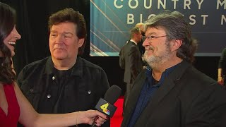 Shenandoah's Marty Raybon and Mike McGuire at the 2019 CMA Awards