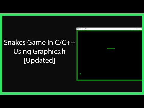 Snakes Game In C / C++ Updated [GRAPHICS.H] [WINDOWS]