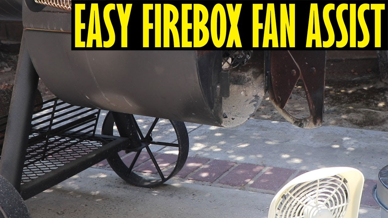 Easy Firebox Fan Assist For The Oklahoma Joe's Highland Offset Smoker