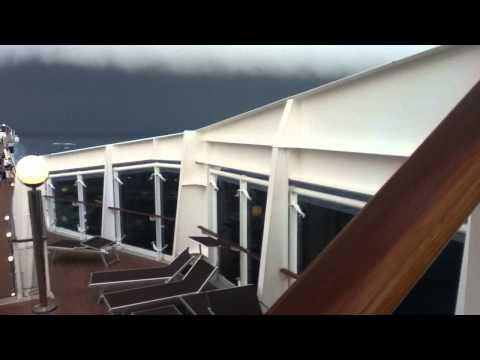 Roll Cloud on Open Sea - Cruise Ship