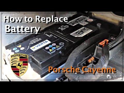 How To Replace Battery On Porsche Cayenne | Как поменять аккумулятор на Порше Каен / DIY