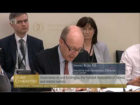 Minister Shane Ross addresses Oireachtas Committee about FAI