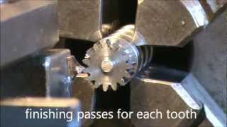 Broaching external gears on lathe - planetary gear thumbnail