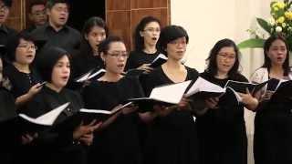 Giovanni Pierluigi da Palestrina - O Domine Jesu Christe - Cappella Victoria Jakarta (sing along)
