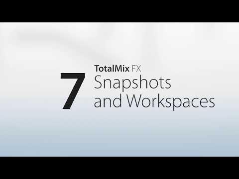 RME Audio TotalMix FX - 07 Snapshots et Workspaces