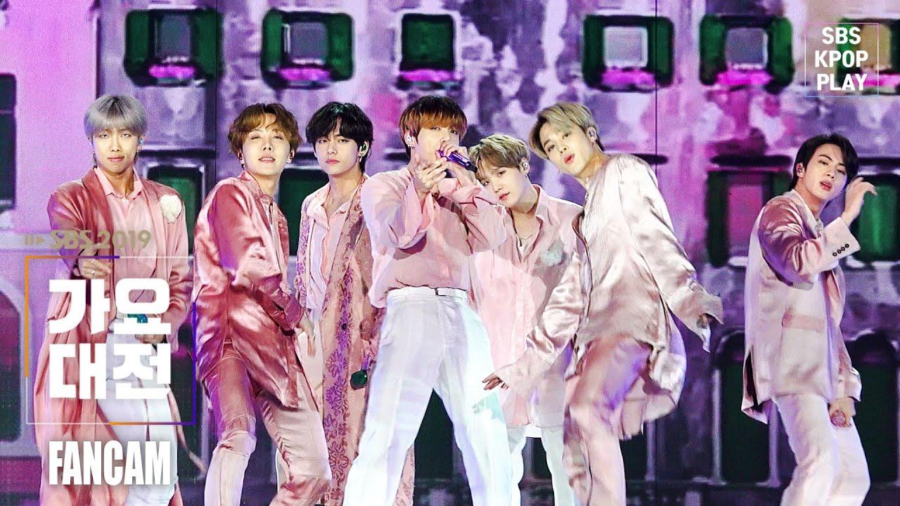 [2019 가요대전] 방탄소년단 '작은 것들을 위한 시' 풀캠(BTS 'Boy With Luv' FANCAM)│@2019 SBS Music Awards
