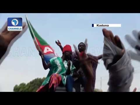 Buhari's Victory: Kaduna APC Supporters Troop To The Streets