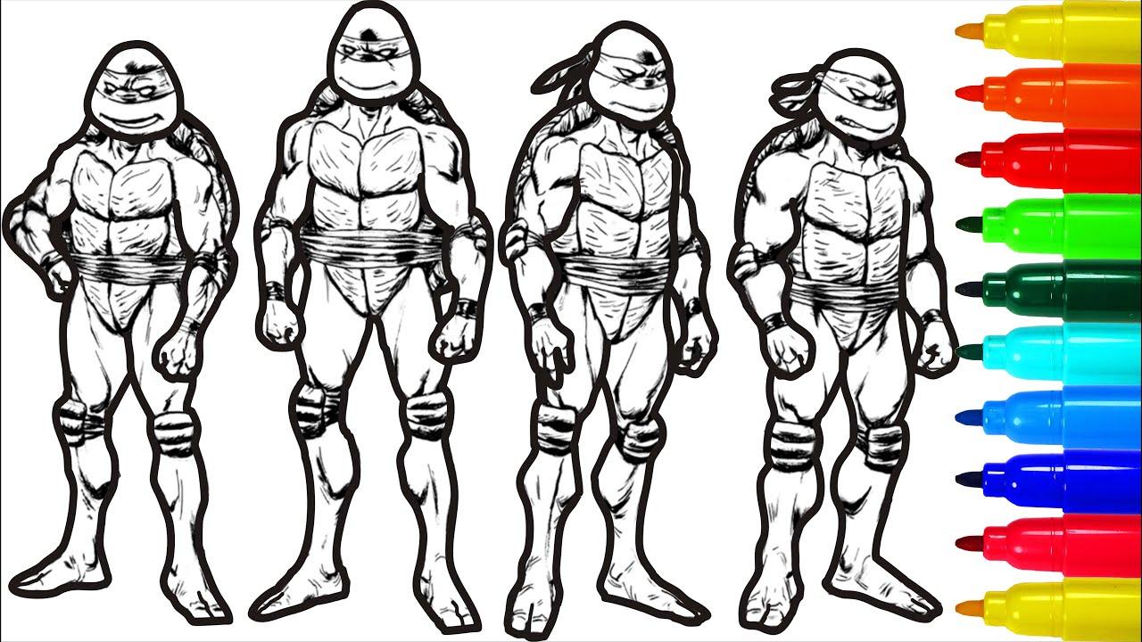 Ninja Turtles Leonardo Raphael Donatello Michelangelo Coloring Pages